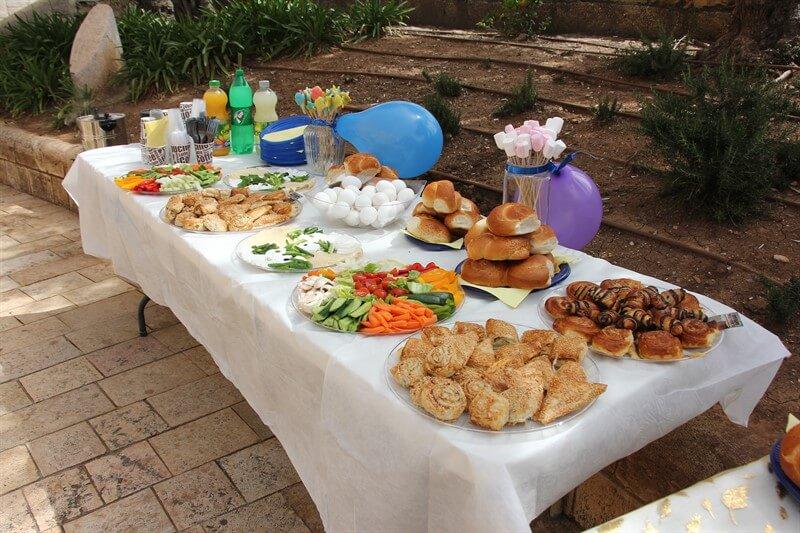 תמונות ארוחת בוקר בכותל