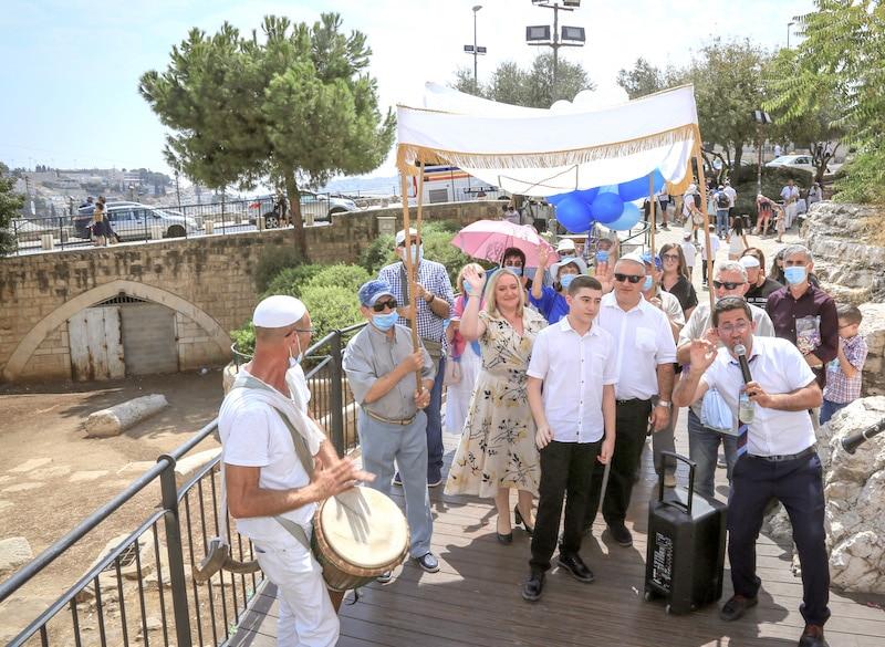 תהלוכת תופים ושופרות בירושלים