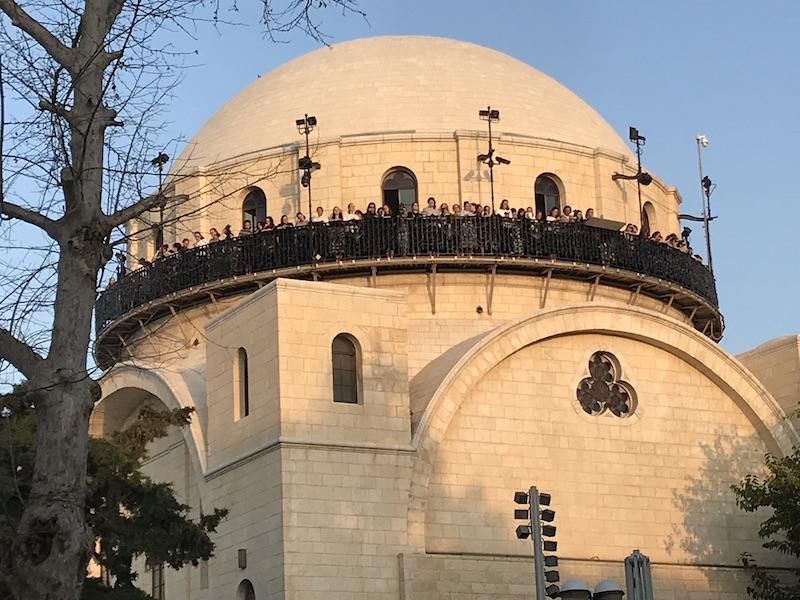 סיור בירושלים ביום גשום